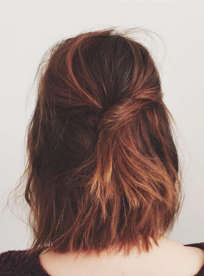 Coiffure boheme coiffures cheveux mi longs rouges