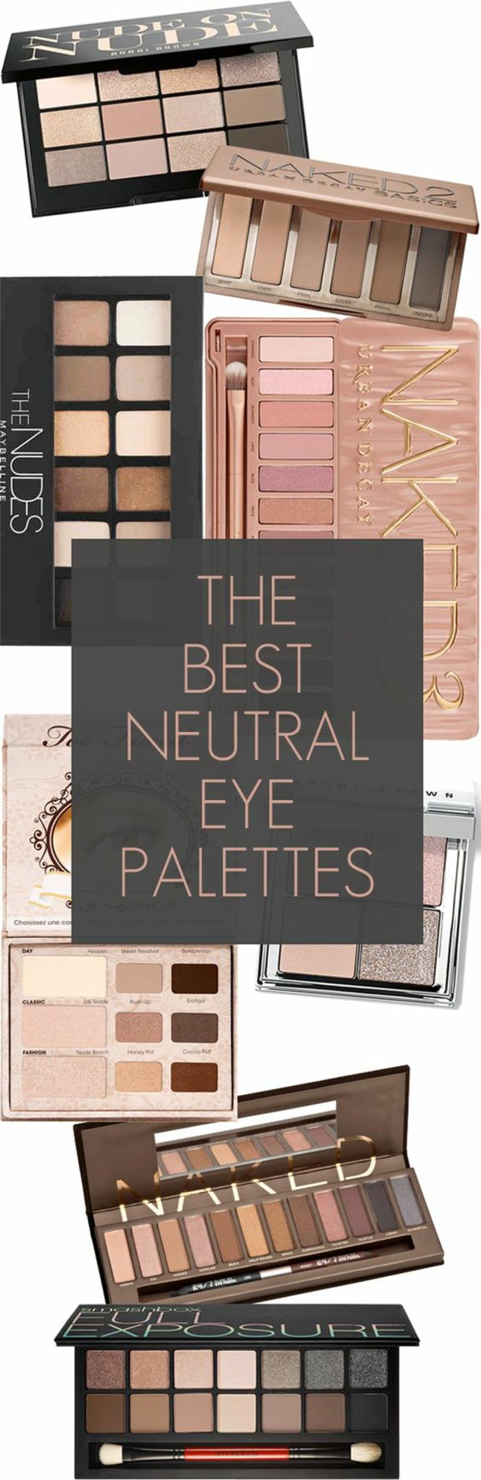 une sélection des meilleures palettes nude pour réaliser un maquillage naturel