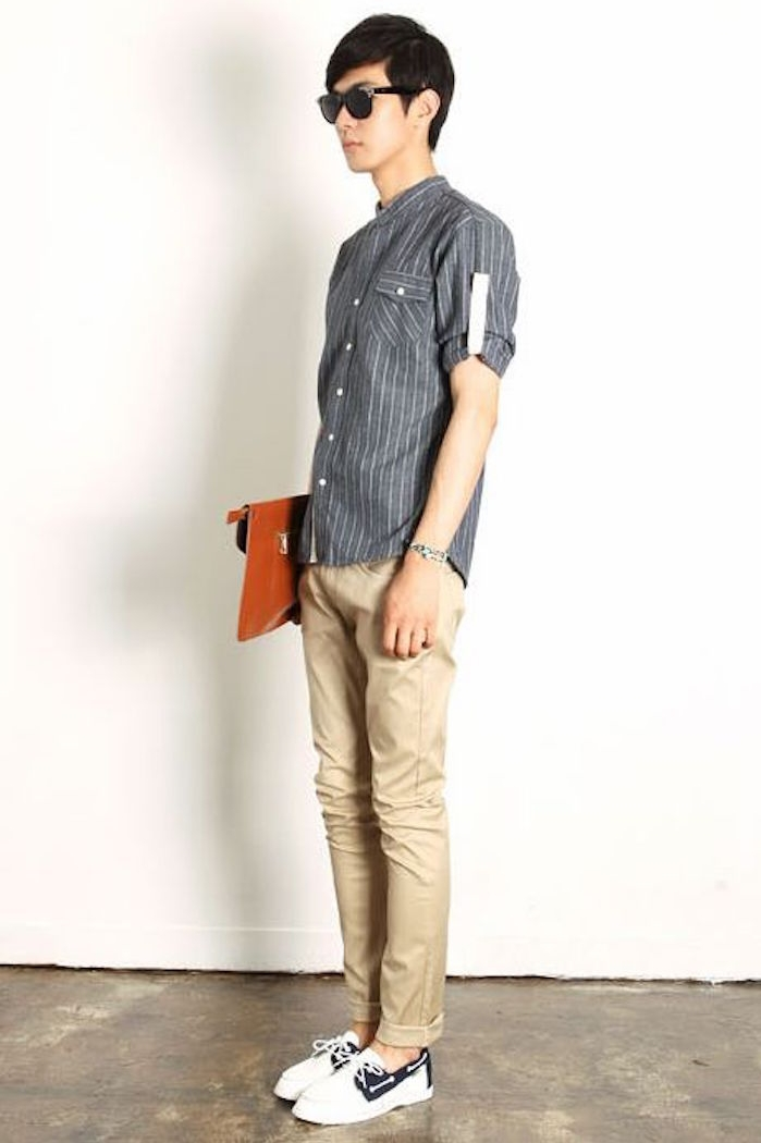 pantalon beige chino homme style hipster
