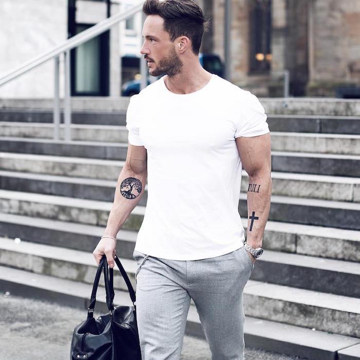 pantalon a pince gris chine coton zara man
