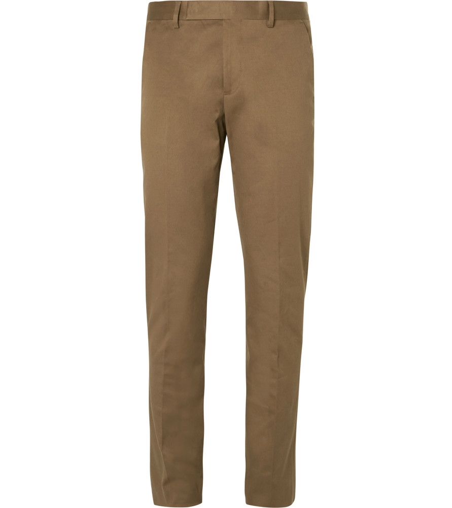 pantalon chino homme marque luxe qualité paul smith marron