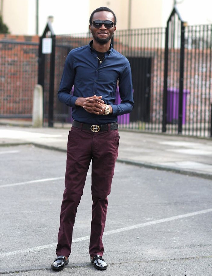 pantalon homme bordeaux chinos h&m zara man