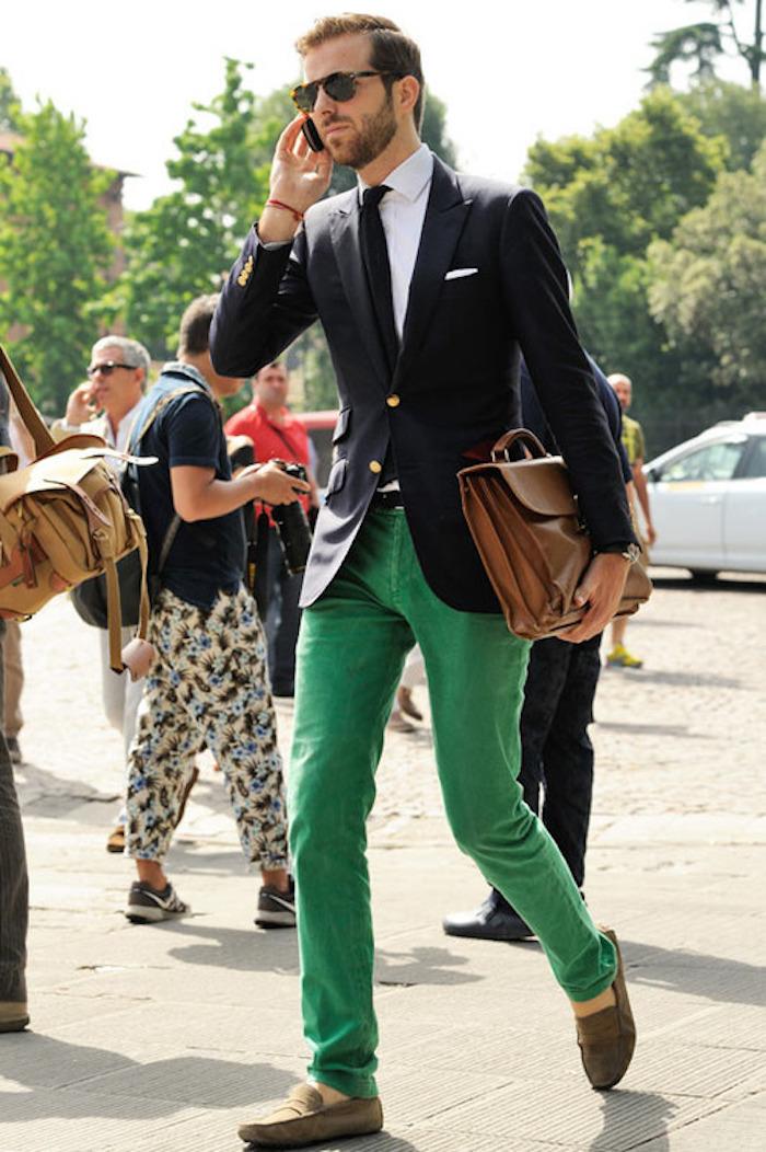 pantalon lin homme velours vert pomme chinos