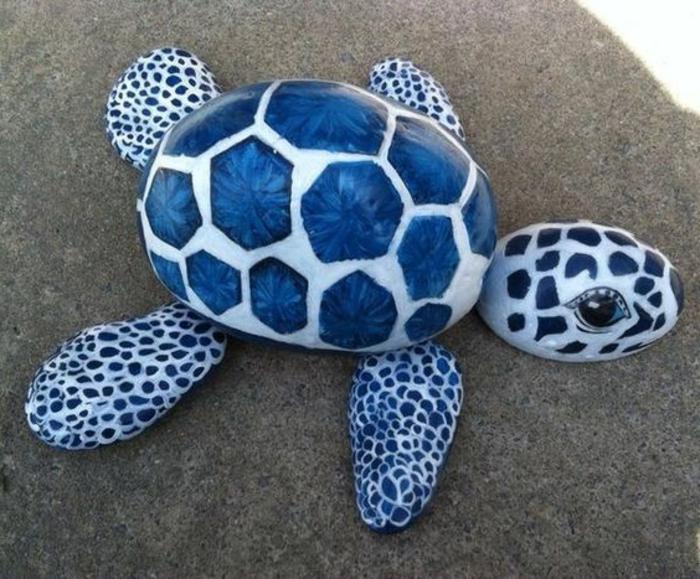 peindre des galets, tortue originale faite à partir de galets peints