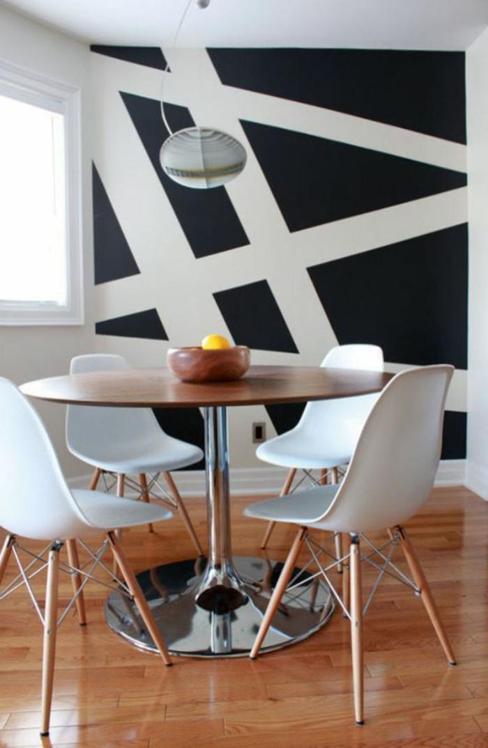 peindre mur et plafond avec la technique blocage de couleur