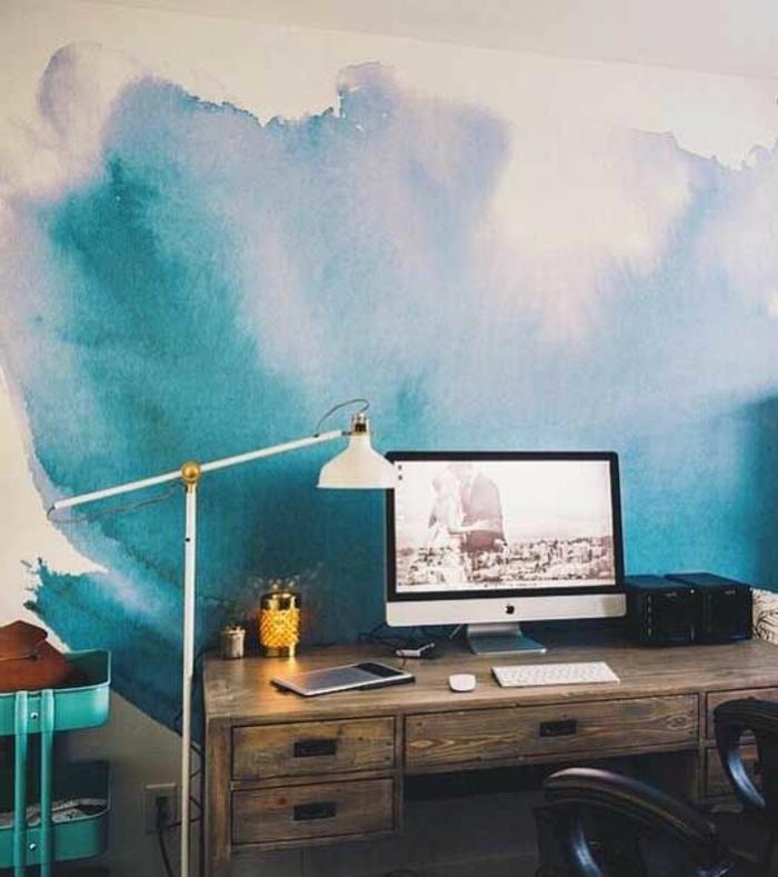 1001 id es pour votre peinture murale originale - Peindre ligne sur mur ...