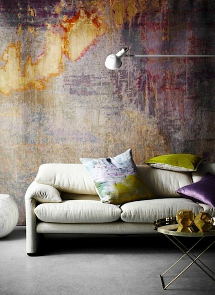 Beautiful fresque murale moderne contemporary design trends 2017 for Peinture murale originale