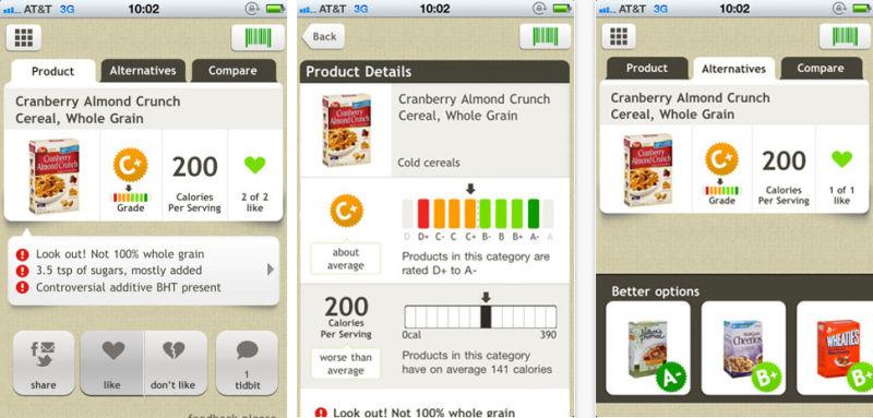 application pour maigrir, déchiffrer les étiquettes de la nourriture, conseils utiles, vie saine, alimentation équilibrée