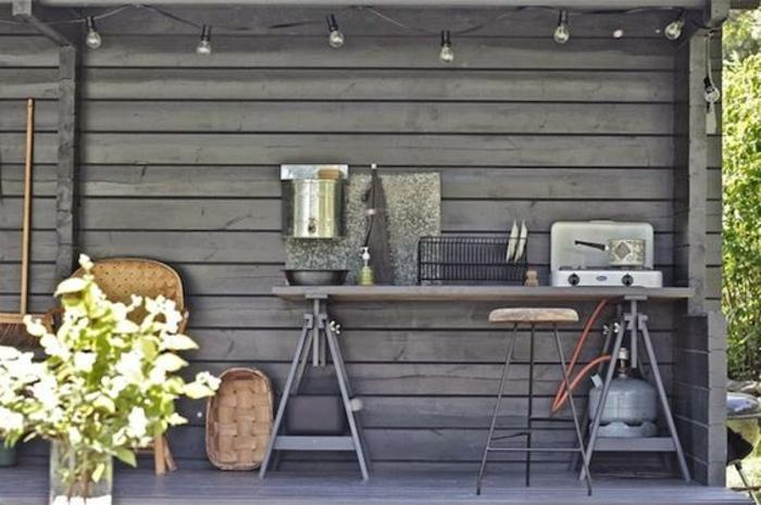 1001 id es d 39 am nagement d 39 une cuisine d 39 t ext rieure. Black Bedroom Furniture Sets. Home Design Ideas
