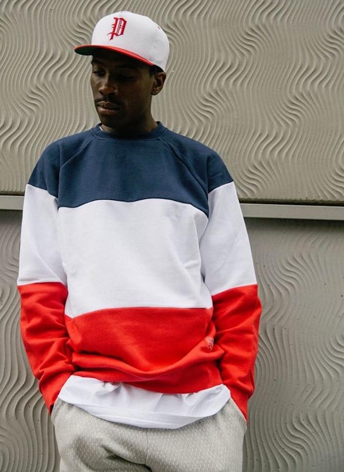 marque vetement streetwear streetwear sweat bleu blanc rouge