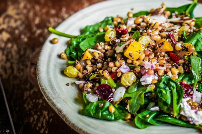 Salade composée, recette de salade, recette salé avec elda