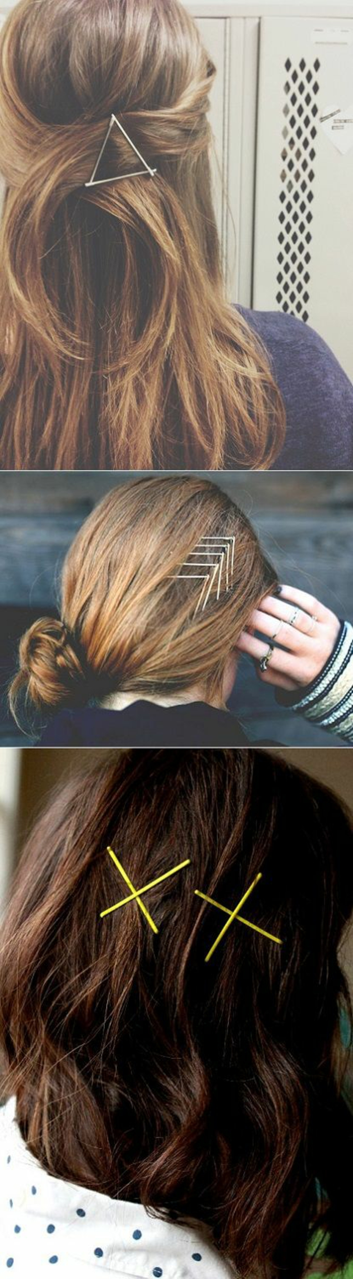 Superbe coiffures bohemes coiffure 2017 printemps avec bobby pins