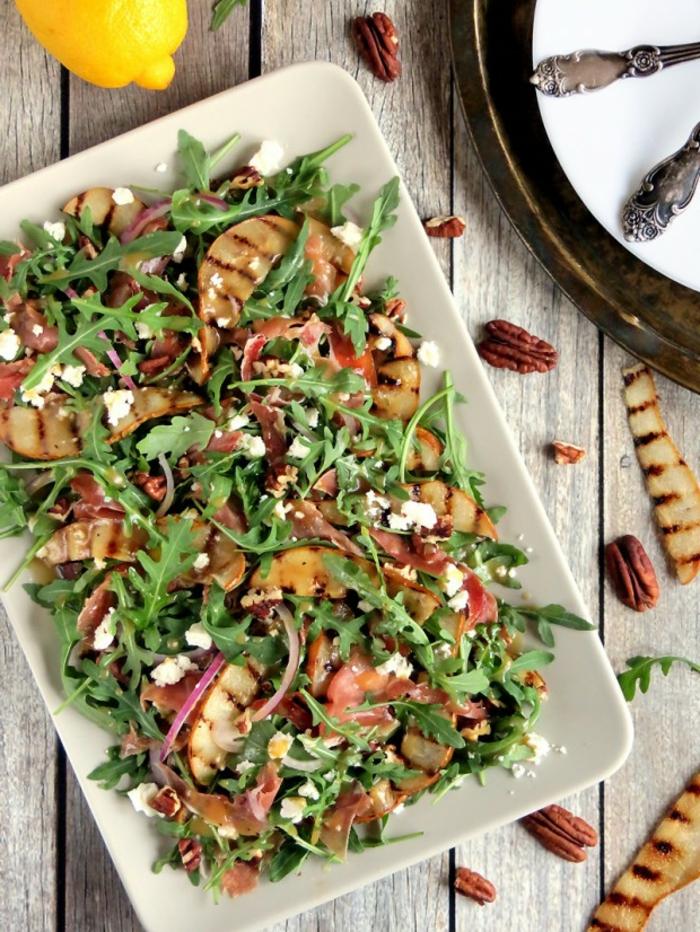 Recette salade composée; salade verte avec rucola