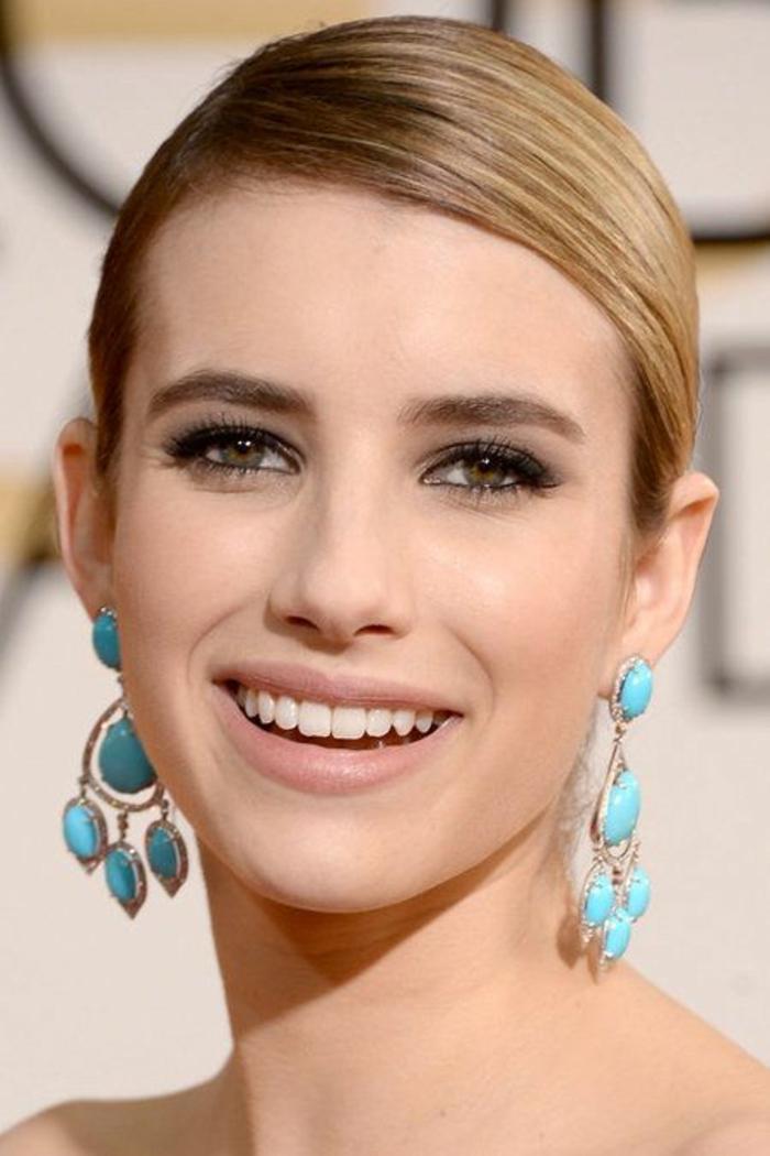 maquillage discret pour un look romantique et naturel, lèvres nudes et maquillage des yeux neutre