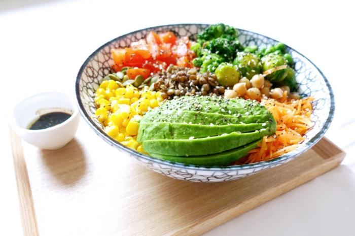 Idée salade composée; salade été; recettes de salades avant la combinaison
