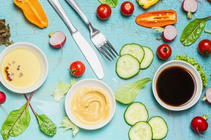 Salade verte composée; salade composé - tout mixer et mélanger