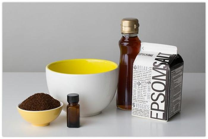 recette de gommage naturel détoxifiant au sel d'epsom et au café