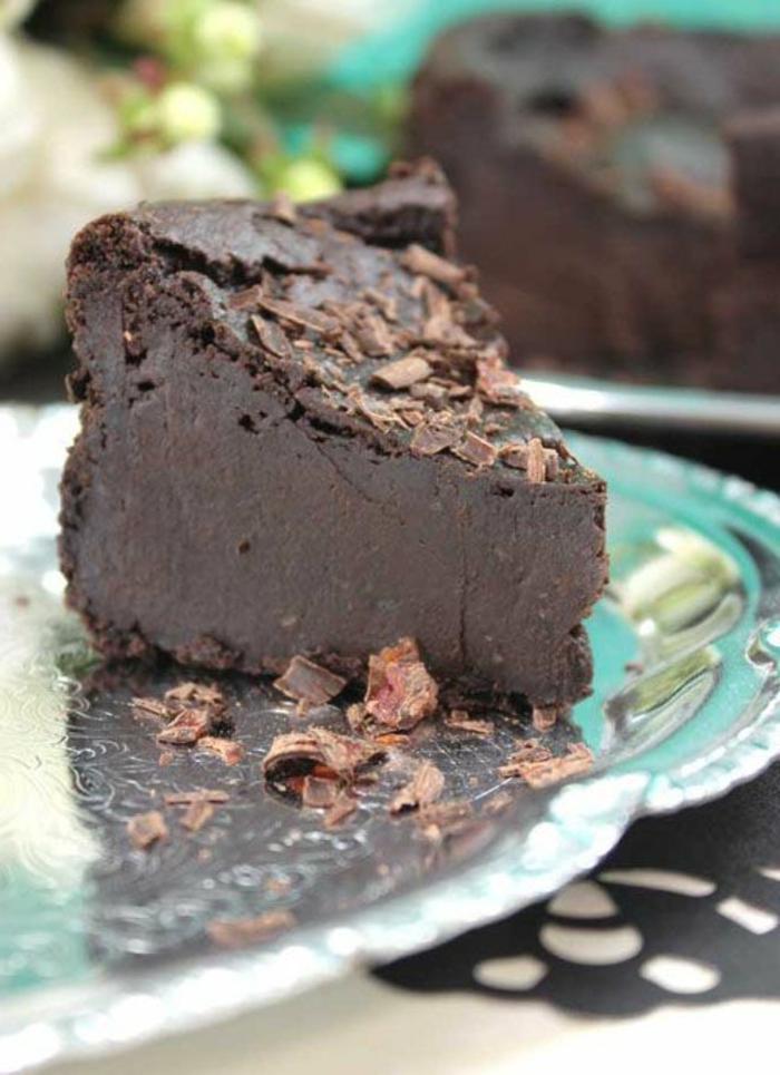 recette gateau sans oeufs, gâteau au chocolat cru super délicieux