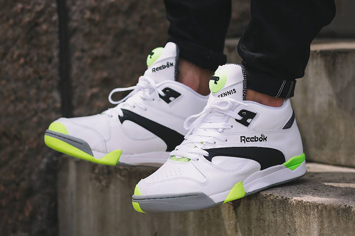 chaussure homme montante reebok court victory pump blanche