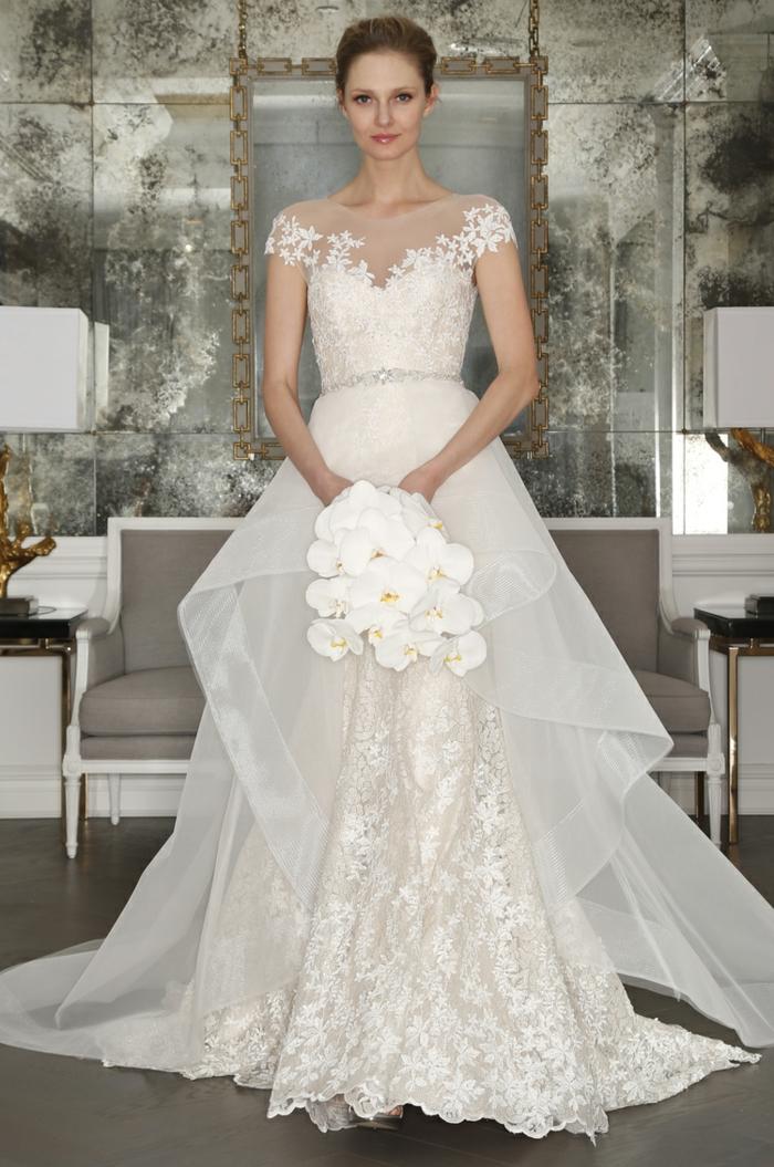 une robe de mariée dentelle sublime qui joue sur les illusions