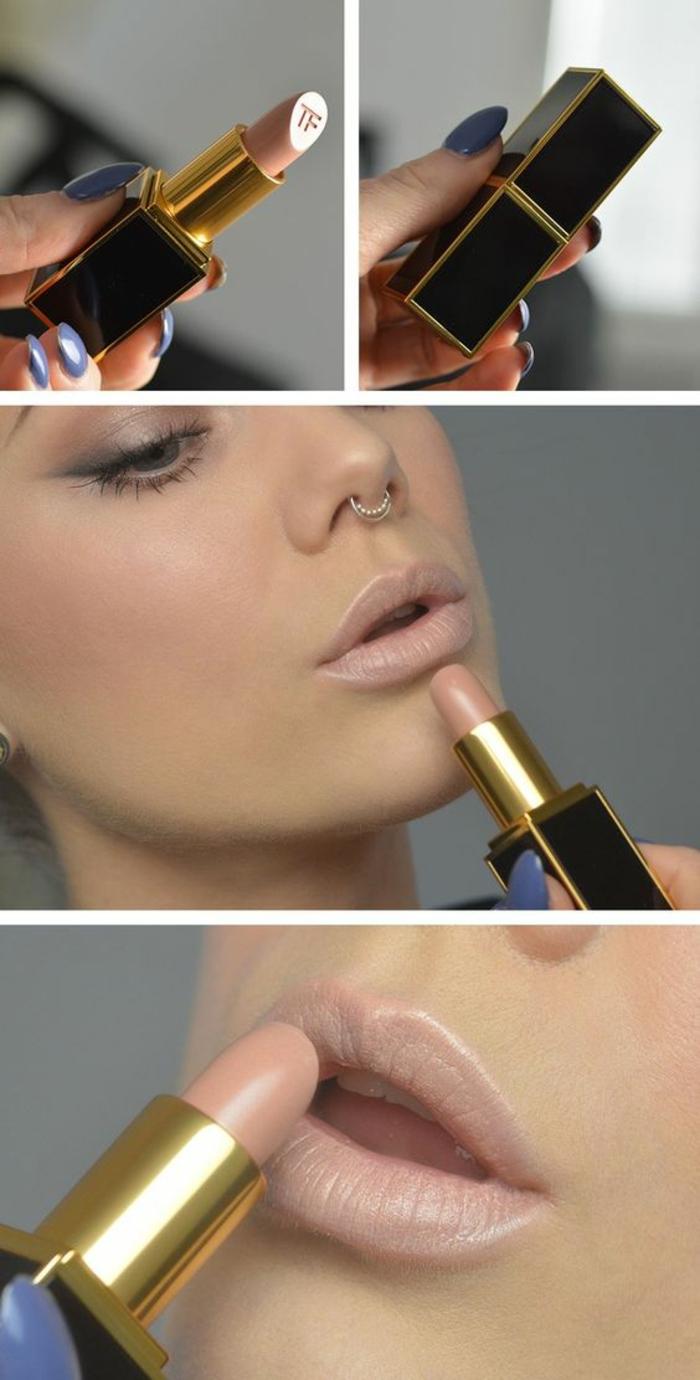 des lèvres effet nude et mates, maquillage naturel et discret
