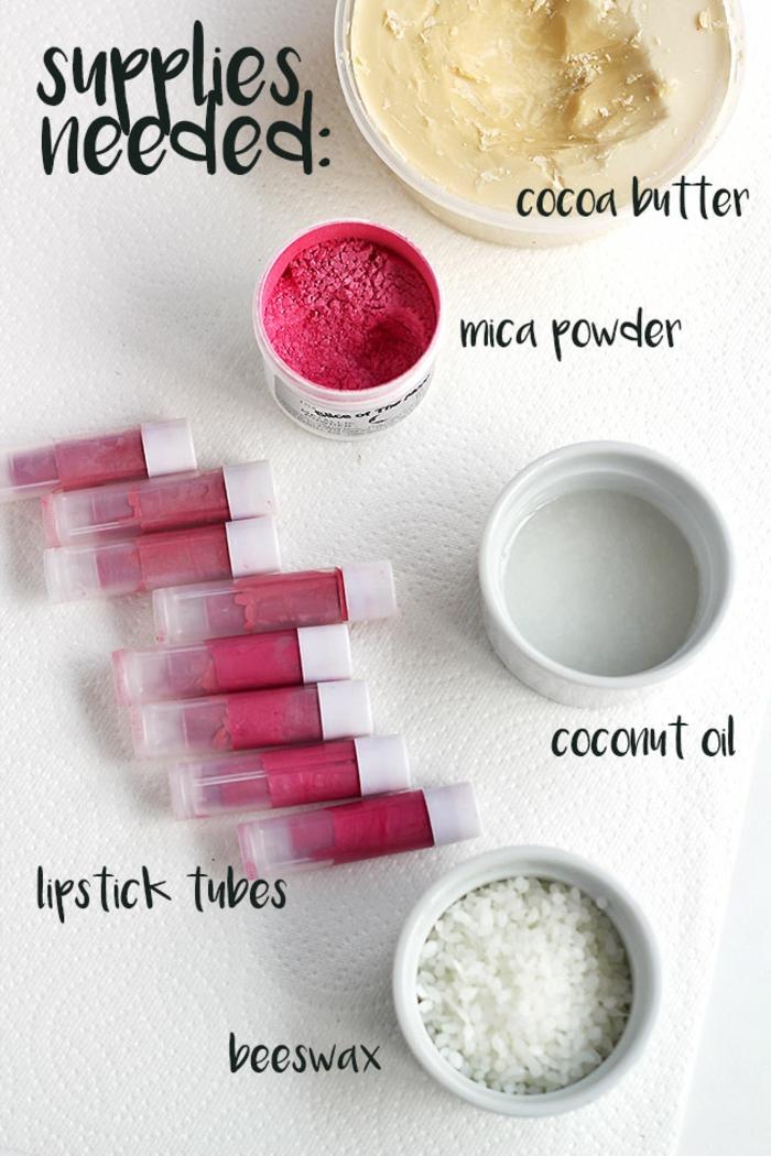 recette facile de rouge à lèvres naturel, cosmétique maison pour les lèvres