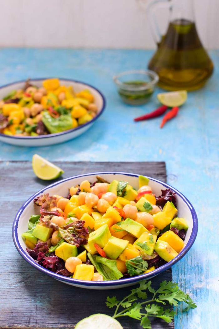 Salade composée recette cool idee salade végétalienne oil