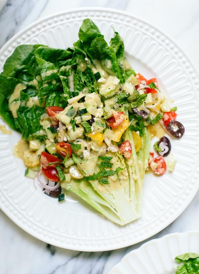 Recette légère soir – la salade composée facile lutice