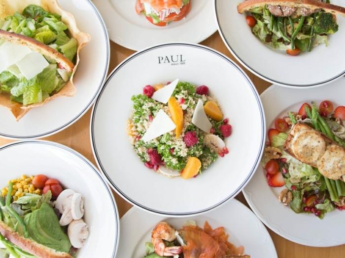 Salade crudité recette salades paul restaurant