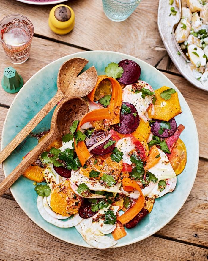 Salade composée originale pour buffet froid recette sale et orange