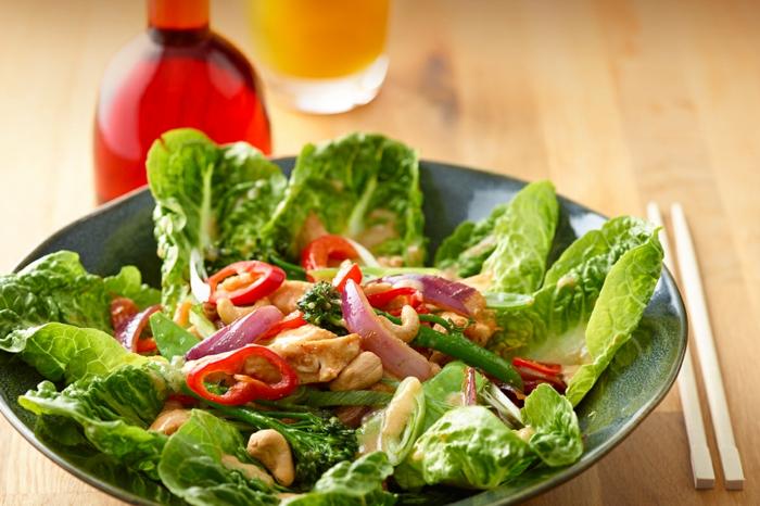 Salades composées originales; salade originale salade entrée avec poivrons