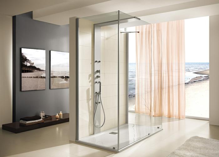 Tout savoir sur le choix d 39 une cabine de douche design et for Colonne de salle de bain gris anthracite