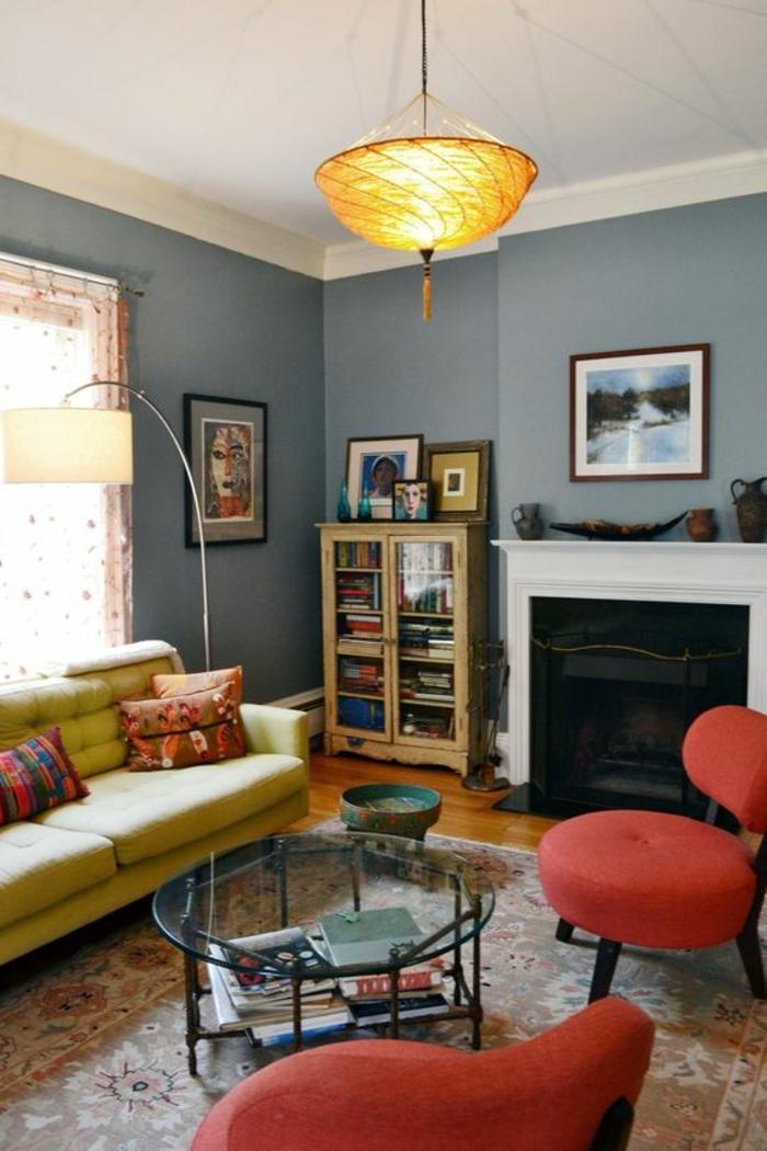 inspirez vous avec nos 53 photos de salon gris et jaune obsigen. Black Bedroom Furniture Sets. Home Design Ideas