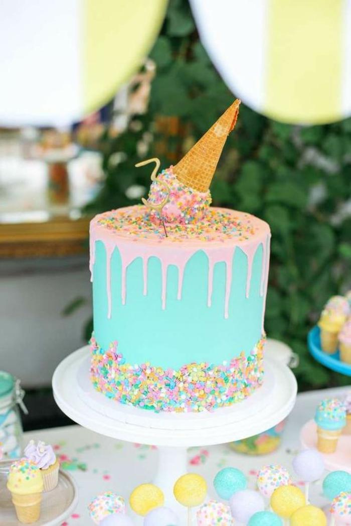 gateau anniversaire bebe fille gateau de fete corne de glace