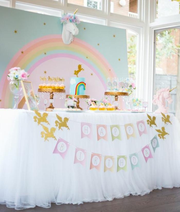 1001 id es de g teau licorne magique pour l 39 anniversaire for Tavolo unicorno