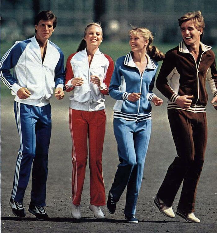 photo adidas années 80 survetement vintage slim