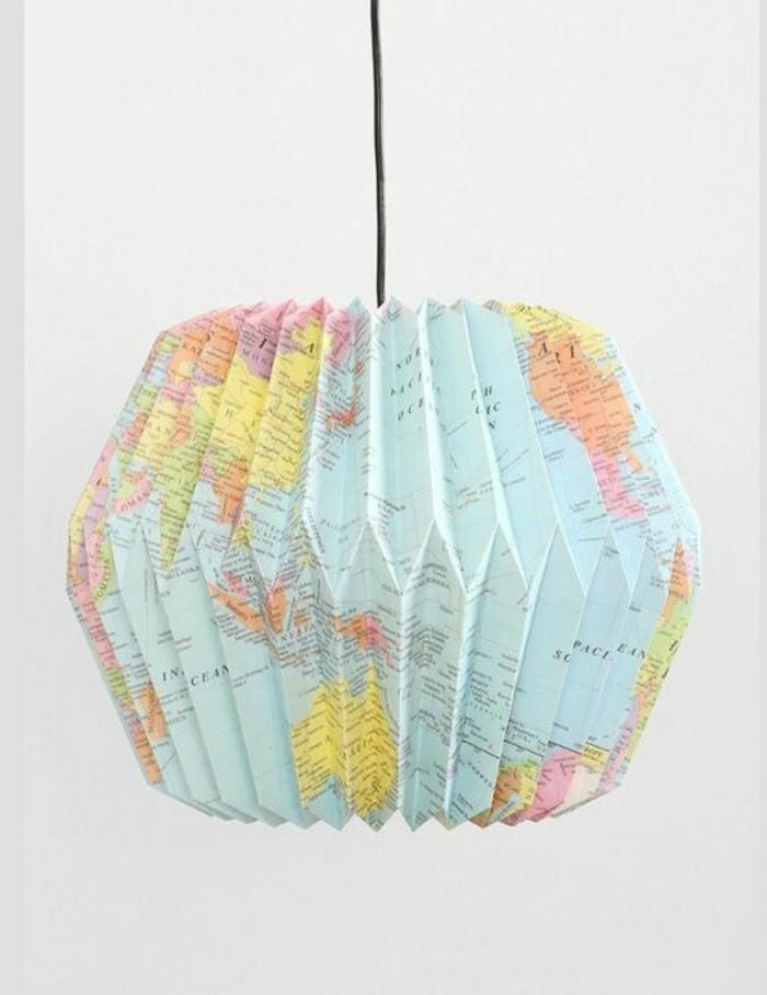 Carte Du Monde Origami.1001 Projets Diy Super Cool Pour Fabriquer Un Luminaire Origami