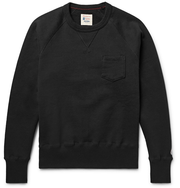 Sweat simple marque homme Fleece-Back qualité Todd Snyder + Champion