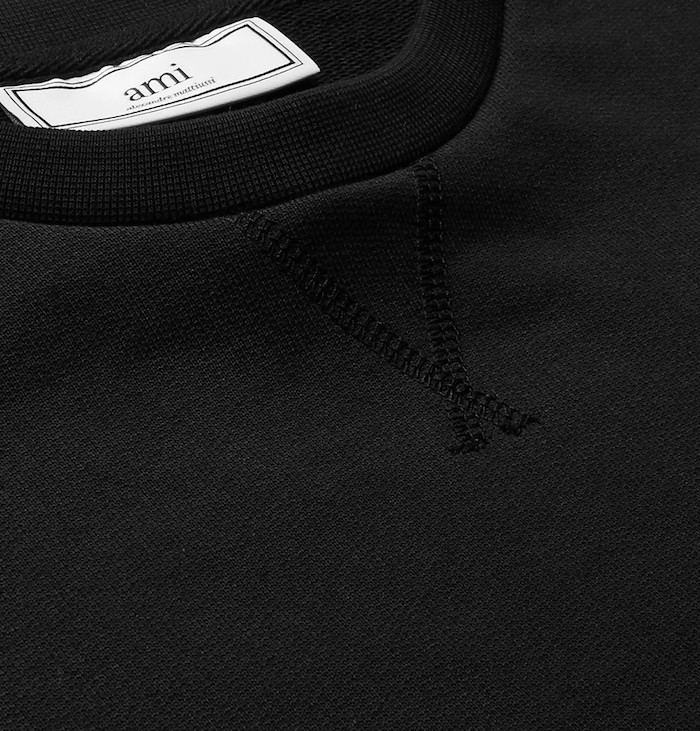 choisir sweat homme simple noir uni ami paris marques vetements hommes