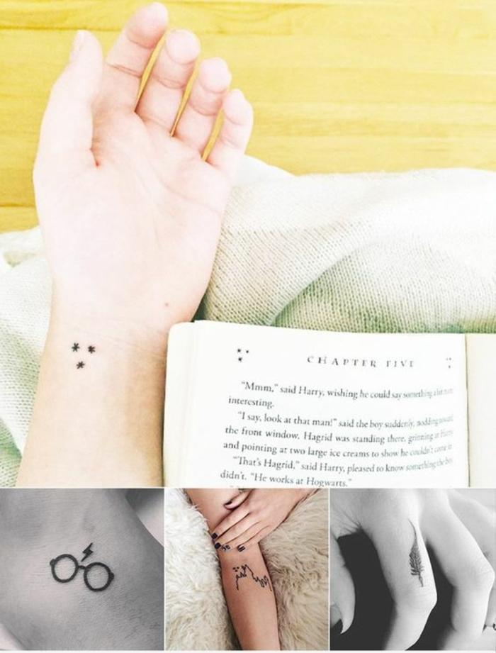 idée originale pour un tatouage mains que les fans de harry potter vont apprécier