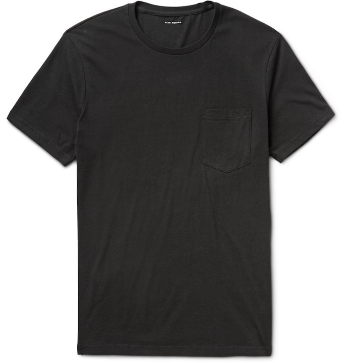 vetements homme club monaco tee shirt basic noir williams