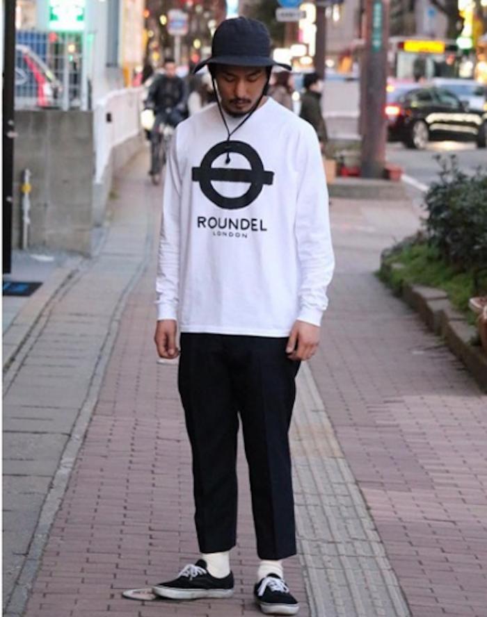 Roundel london tee shirt blanc logo métro style marques anglaises