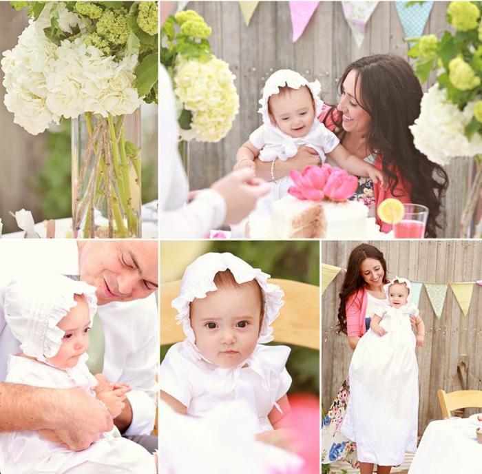quelle tenue pour un baptême, gilet rose, robe fleurie, chemise blanche, vetement bapteme