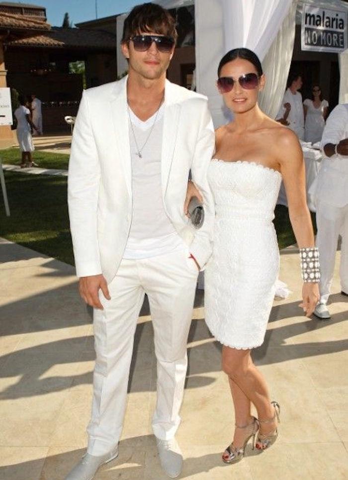 tenue blanche homme et femme costume blanc