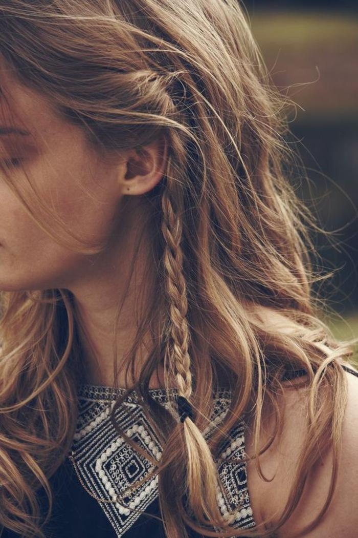 Ootd hippie coiffure bohème facile chignon rapide petit tresse