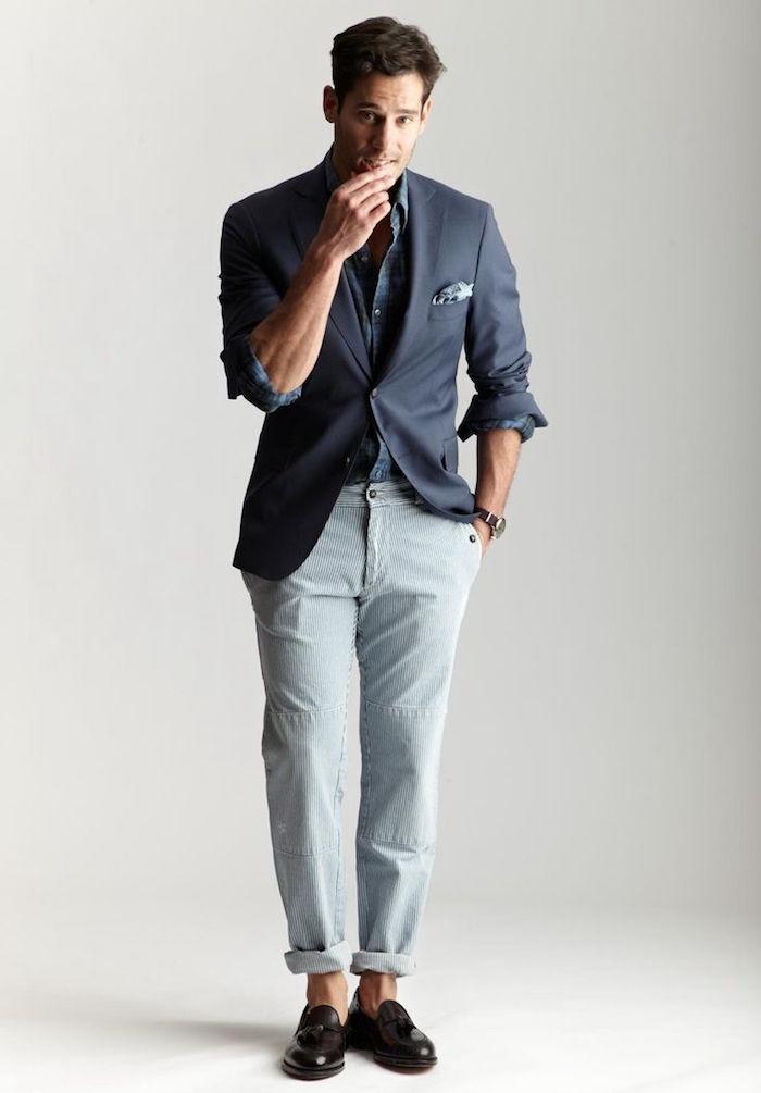tenue décontractée homme avec veste et pantalon velours