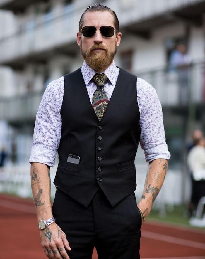 tenue hipster classe costume tenue de soirée homme