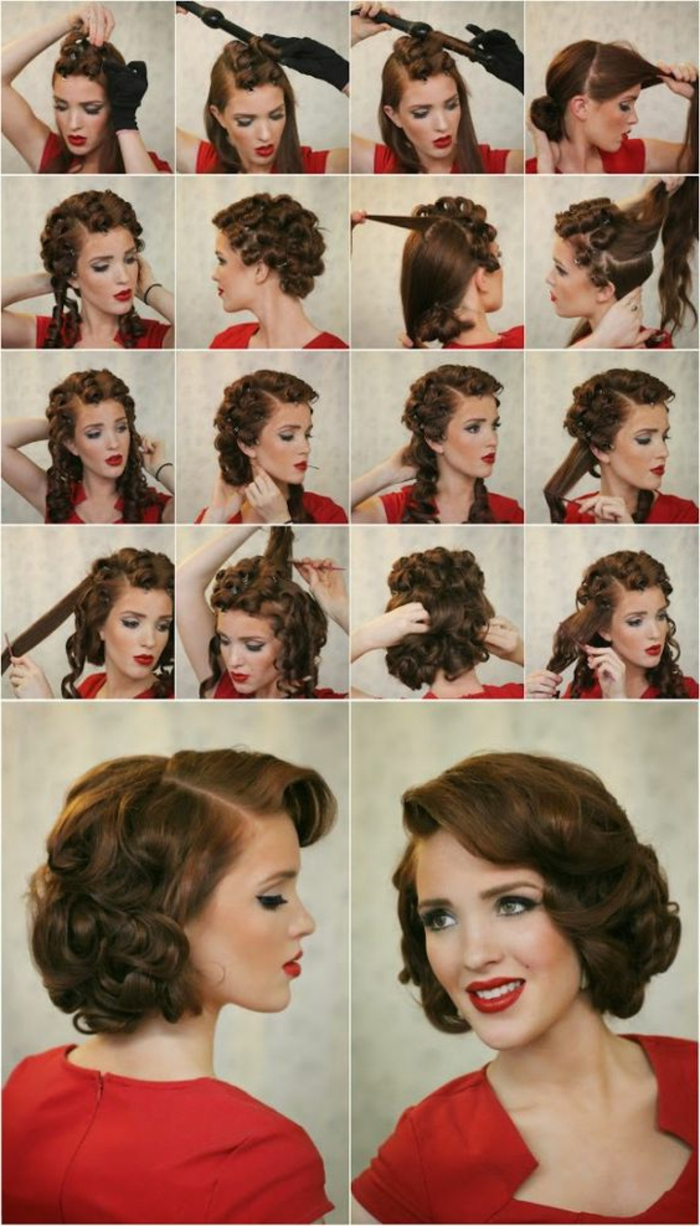 tuto coiffure retro cheveux mi long. Black Bedroom Furniture Sets. Home Design Ideas