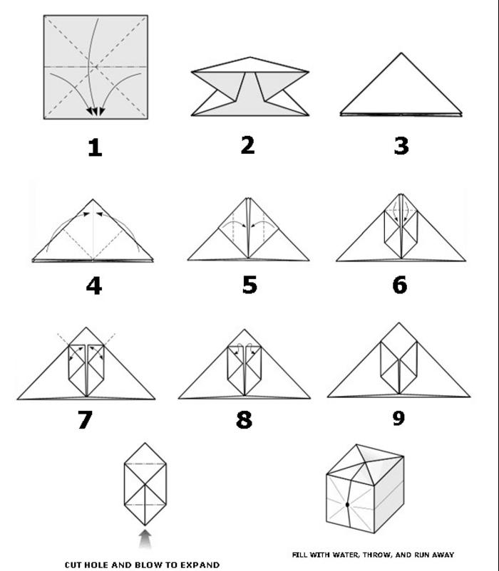 lampe origami, pattern pour le pliage, étapes à suivre, former une boîte, lampe en papier