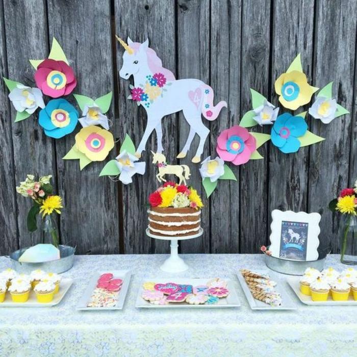 anniversaire princesse gouter anniversaire licorne déco table anniversaire